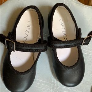 Capezio black dance tap shoes size 6.5